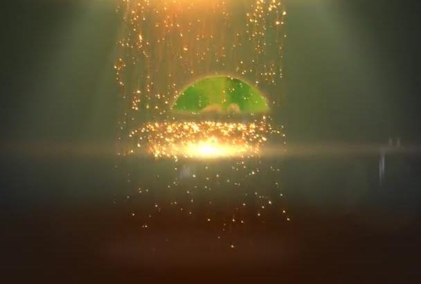 make video intro Sparkles rain logo