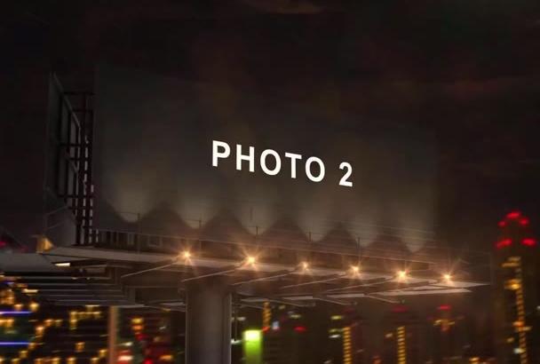 create a billboard advertising video