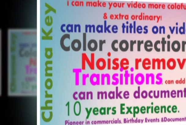 video editing in cheap price