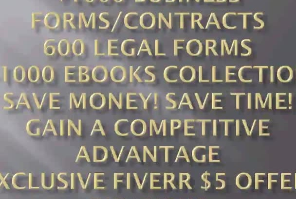 give you 1000 business forms  contracts 30k