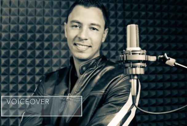 grabar una voz en off profesional en Español en 24 horas