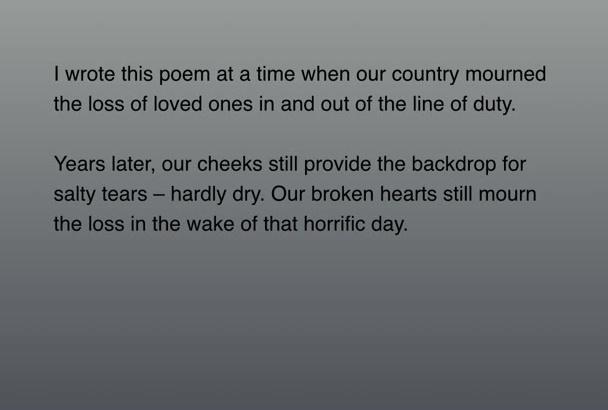 send you amazing September Eleven poem