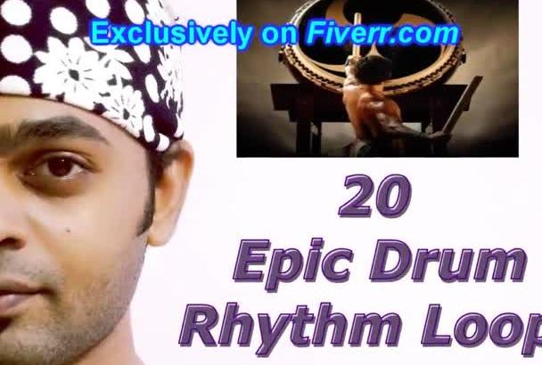 provide 20 Epic Drum Rhythms