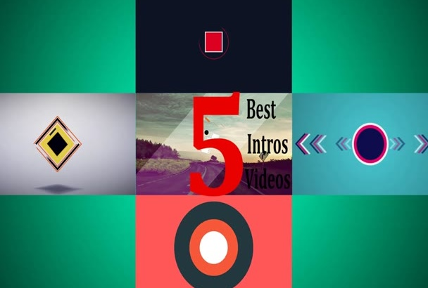 creat 5 intros logo animation
