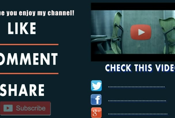 make outro for youtube to boost subscriber