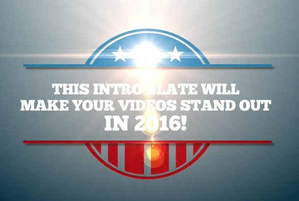 make political style intro for your videos