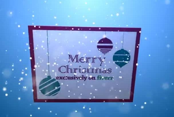 create AMAZING Christmas video