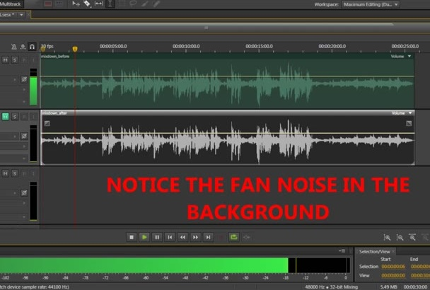 remove background noise from your project