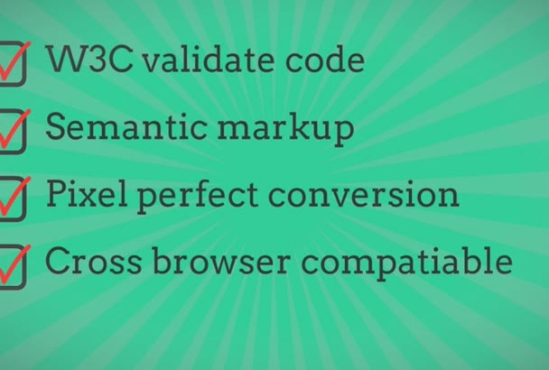 convert psd to html responsive w3c validate template