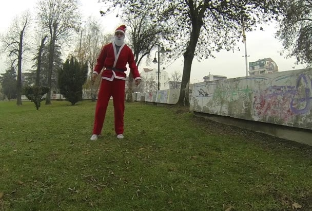 flip as Santa Claus for Christmas and show your message