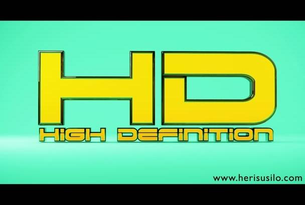 create custom 3D logo animation
