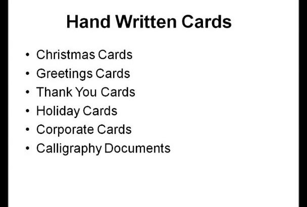 handwrite your Holiday Christmas card