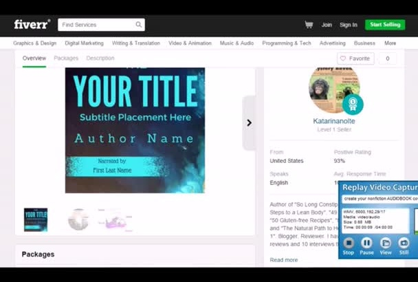 create your nonfiction AUDIOBOOK cover for you