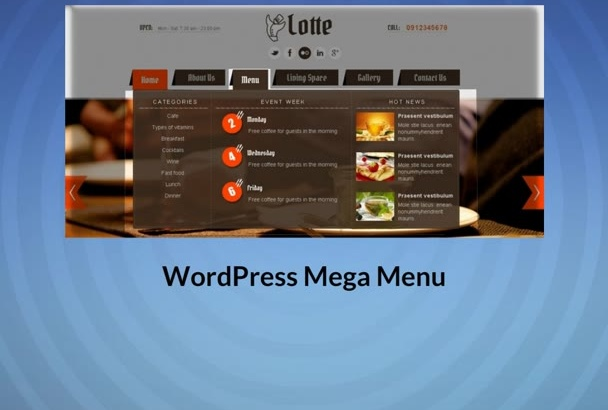 install Mega Menu For WordPress