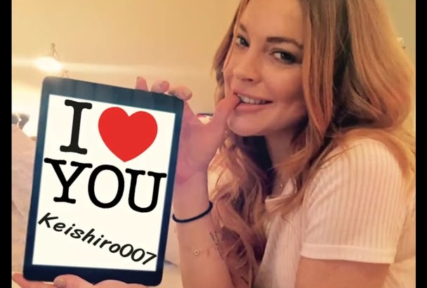 make 10 celebrities to hold your Sign, Logo, Message, Photo, Webpage or Anything