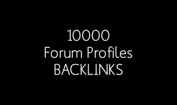 build 10000 Profile Backlinks with XRumer