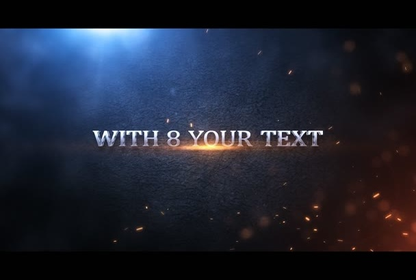 design for you a great movie trailer intro