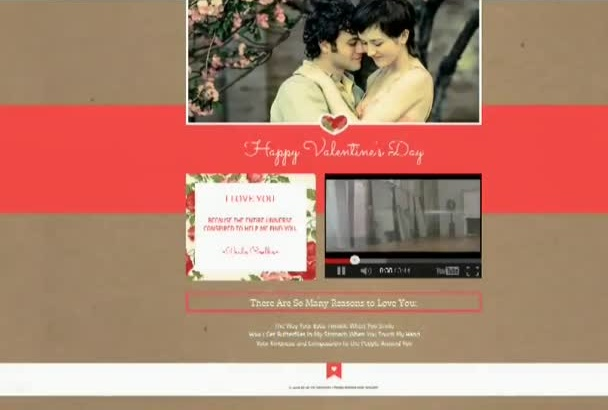 create a landing page for your Product Or as Christmas card