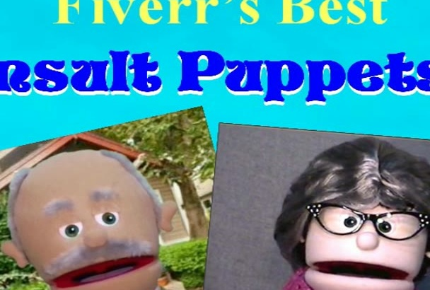 fun Gramps or Granny Insult Puppet Video Message or Ad