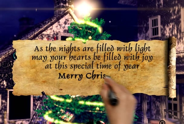 create This Amazing Christmas Video eCard For your Business Clients or Family