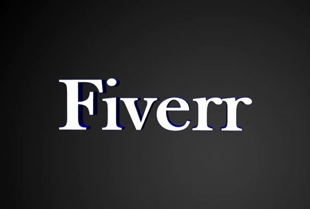 crear tres videos de animación de textos en 3D para Gigs o otros usos