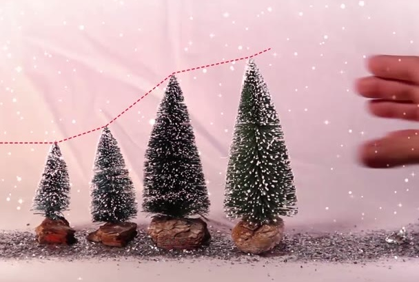 create christmas, holiday, greeetings video