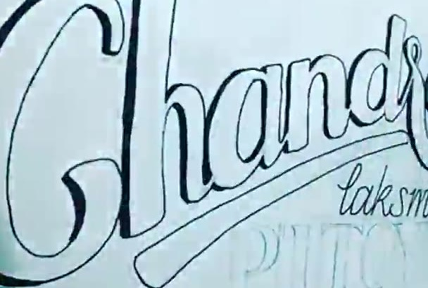do hand lettering for your name