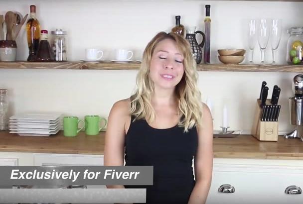 spokesmodel actress model demo product kitchen