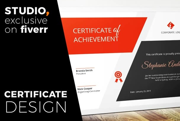 design professional CERTIFICATE with concept