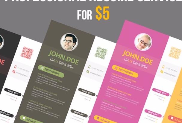 create a high quality resume