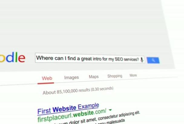 make Google SEO video intro