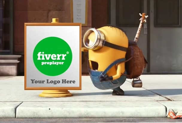 make you Minion expressing love to your logo