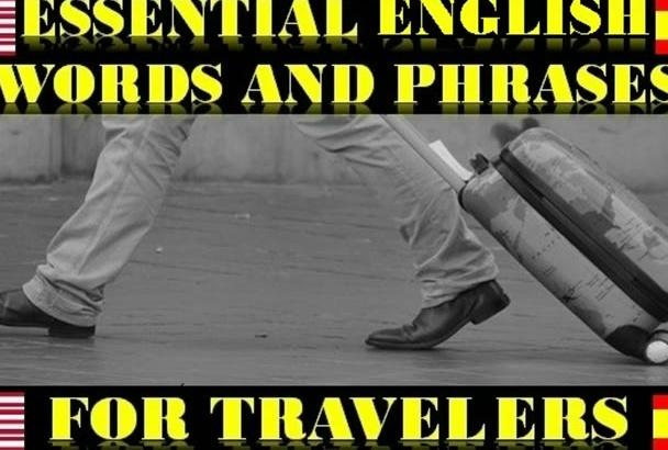 dar mi curso de Palabras y Frases en Inglés para viajeros