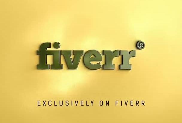 create this eye catching gold metal logo intro
