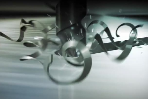 make Amazing Aluminum logo video intro