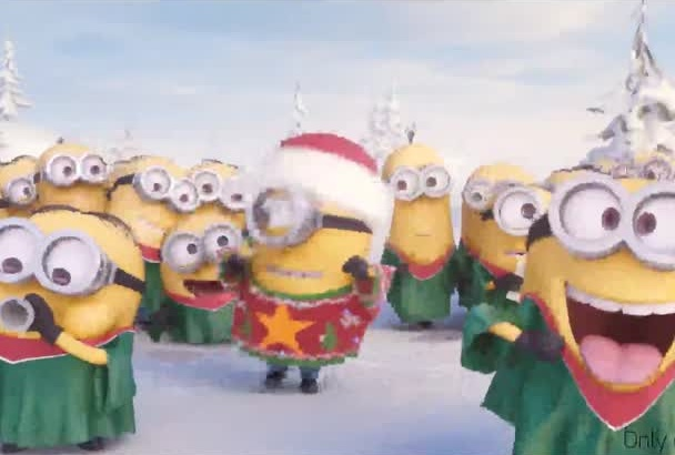 put your Text,Flyer or Photos into Holiday Minion Video