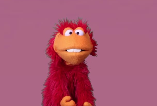 record a puppet video message by Ernie Gurnie
