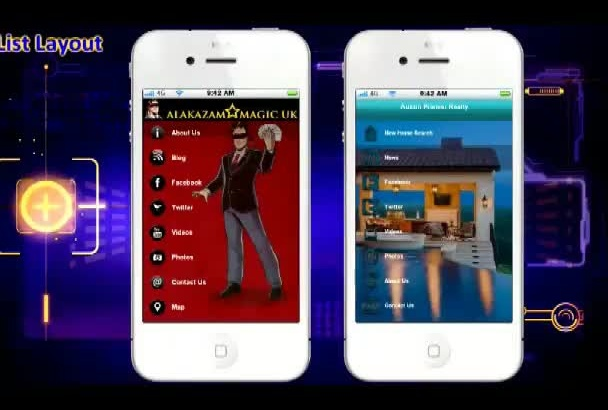 build Mobile App for Business, Website, for iPhone and Android