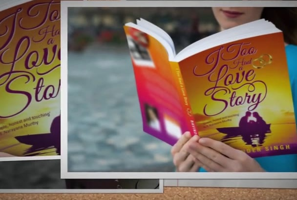 create awesome 3D book cover for you