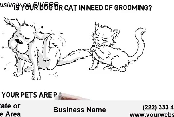 create EXCELLENT Pet Grooming Whiteboard Animation Explainer with Free VoiceOver