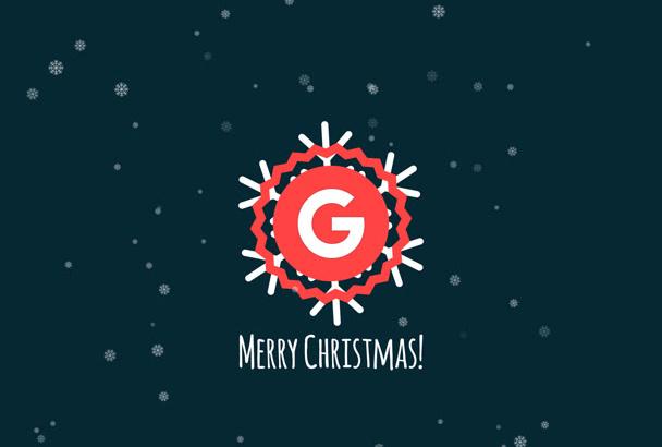 create a christmas logo animation video
