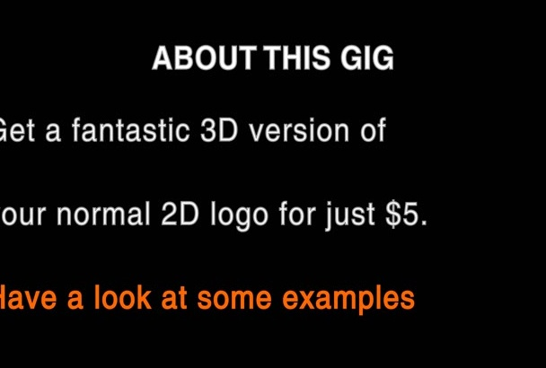 create a 3D logo from your normal 2D version