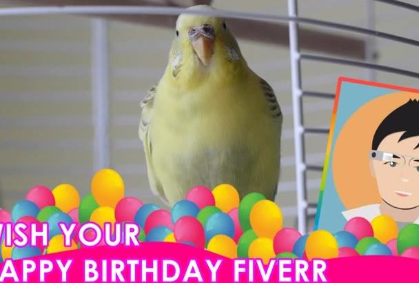 make Christmas Wish, Birthday, New year Wish from The Parrot