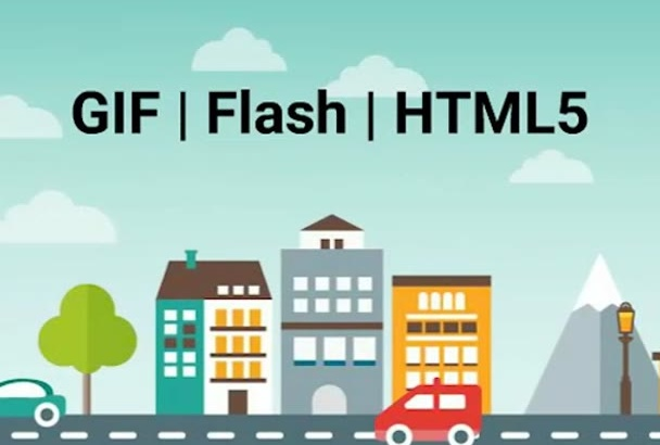create interactive  HTML 5 banner animation