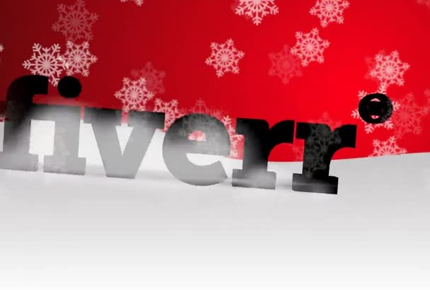 create a fullHD animated christmas greeting with your logo
