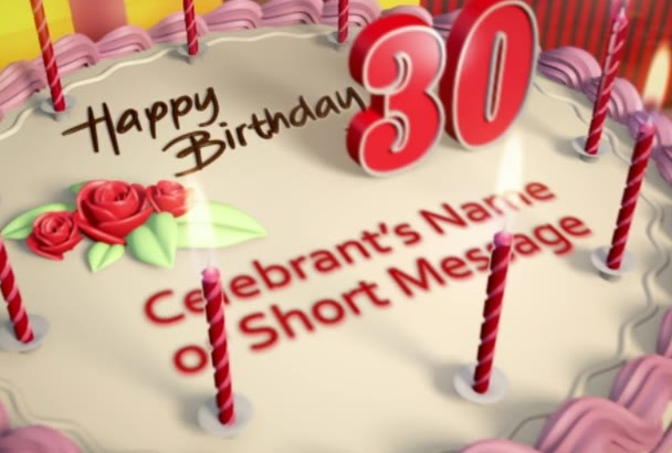 make a birthday greeting for your loved ones