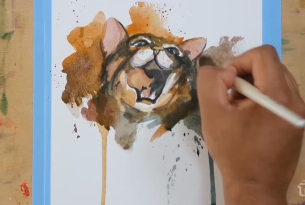 paint any portrait in watercolor