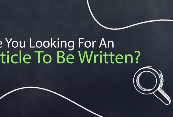 write you an article for any purpose