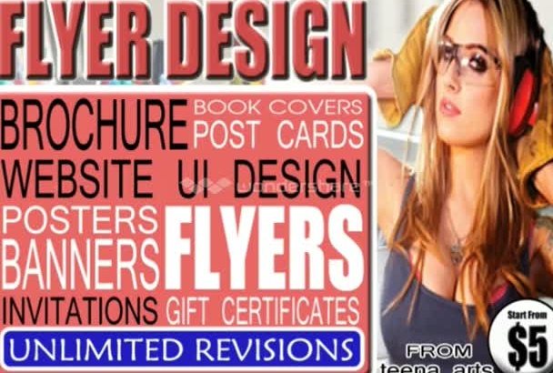 design a perfectly planned, eye catching FLYER