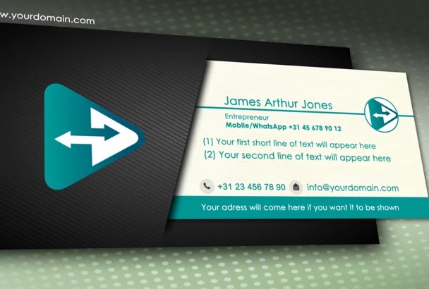 create a video business card Phone 2 Phone with WhatsApp